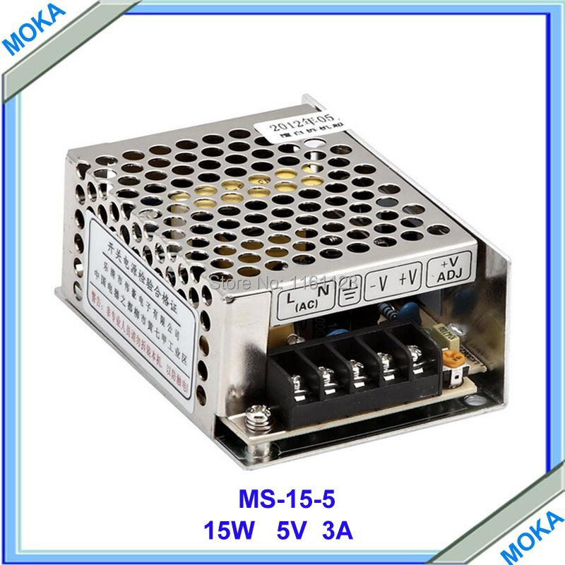 2014 High Quality Mini Size 5V Power Supply Small Swithcing Power Supply MS-15-5 15W 5V 3A