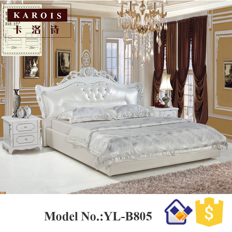 Foshan Yilin Furniture Latest Teak Wood Double Platform Bed