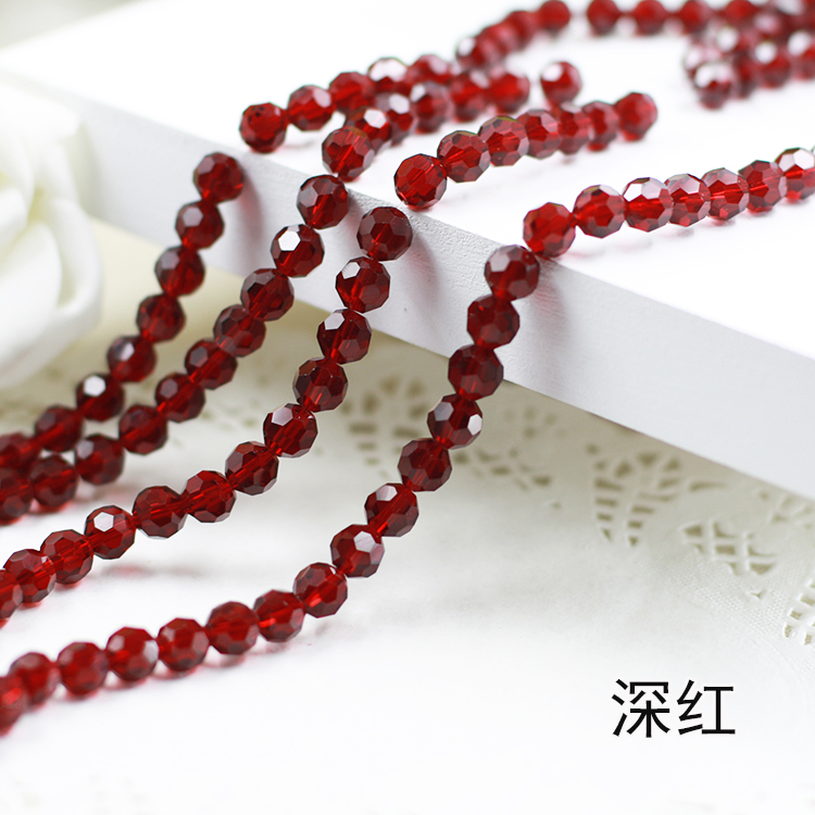 Wholesale~ Dark Red Color 5000# Crystal Glass Beads Loose Round Stones Spacer for Jewelry Garment.4mm 6mm 8mm 10mm wholesale light siam color 5000 crystal glass beads loose round stones spacer for jewelry garment 4mm 6mm 8mm 10mm