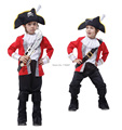 2017 Children's Classic Halloween Costumes Boys Hook Pirate Costume Kids Christmas Carnival Costume Halloween Costume For Kids