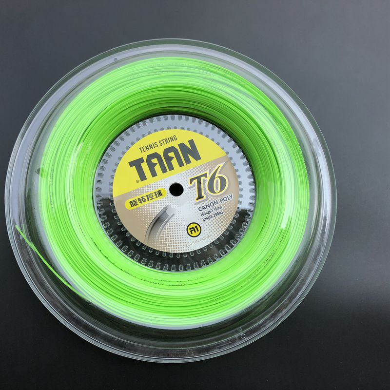 1 Reel TAAN T6 poly tennis string 1.18mm 200M tennis rackets string Control tennis strings 1pc taan tt8700 tennis string flexibility tennis racquet string soft poly string rackets string 1 1mm