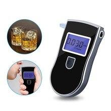 Portable  Breathalyzer Analyzer Detector Digital LCD Alcohol Sensor Breath Tester with 5 Disposable Mouth Pieces 818Portab lcd circuit analyzer ac100 240v mastech ms5908a ms5908c lcd circuit analyzer with voltage gfci rcd tester