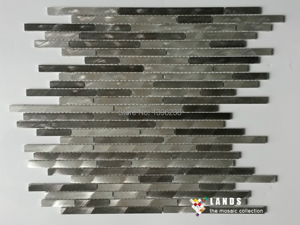 Modern Metal mosaic meshback <font><b>tiles</b></font>,Kitchen/TV Backsplash wall <font><b>tiles</b></font>,Stainless steel self <font><b>adhesive</b></font> Mosaic <font><b>Tiles</b></font> home decorLSAL401