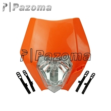 New Arrival Orange Motorcycle Headlight Fairing Motocross Universal Headlamp for KTM SX SXF EXC EXCF 125 200 250 350 450 XCF SMR