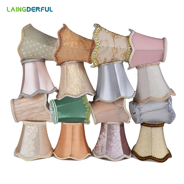 Art Deco Lampshade Forcrystal lamp fabri Light cover Manufacturers Chandelier Light Shade Lamp Cover Drawing for E14 candle lamp