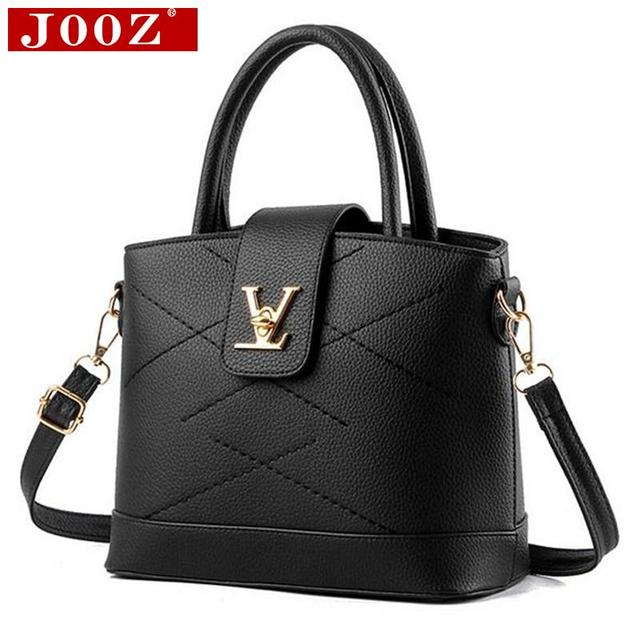 JOOZ New Arrival Famous brand Women Leather Handbag Fashion Women Bag thread Shoulder Bags sac a main Women Top-Handle Bags