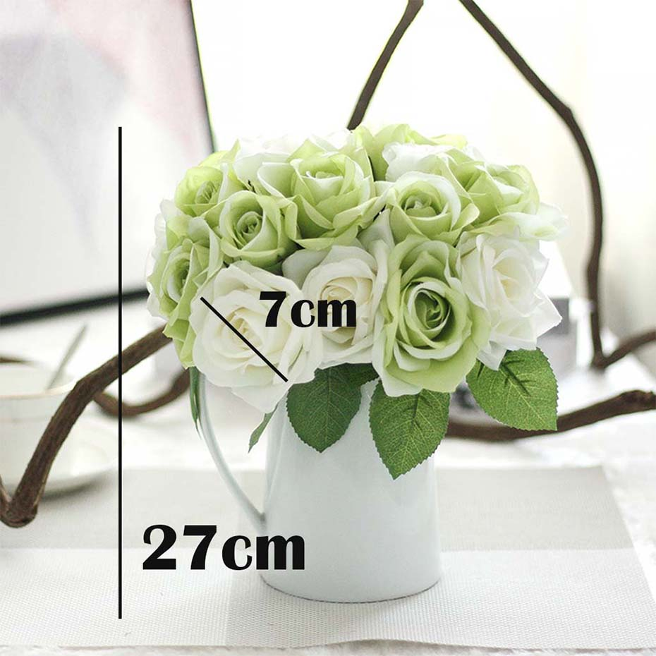 Rose flowers silk artificial flowers gerbera mariage birthday party colorful flowers for your weddingparty decoration vivid looking be realistic like real flowers add them to your diy craft birthday send flower izmirmasajfo