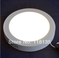 Freeshipping Surface Mounted LED Panel light Warmwhite/Cool White For Kitchen AC85 265V 12W 860LM Round LED Ceiling Lamp