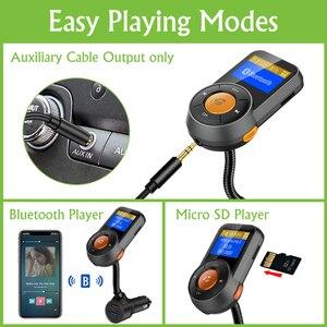 Image 5 - Transmisor FM de coche Bluetooth manos libres Dual USB QC3.0 cargador rápido LCD transmisor modulador Transmetteur Voiture Kit Radio MP3