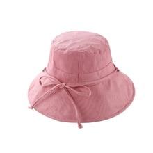 Cáñamo algodón pescador sombrero protector solar plegable Cap Pot señoras  verano al aire libre grande sombreado b435fda055b