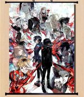 Tokyo Ghoul Cosplayl Poster Scroll Home Fabric Decor Japanese Anime 9