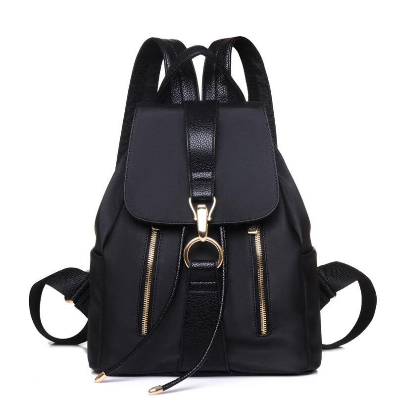 Korean Backpack Women Backpacks Oxford+PU Leather School Bags For Teenage Girls Travel Shoulder Bags High Quality Daily Daypacks