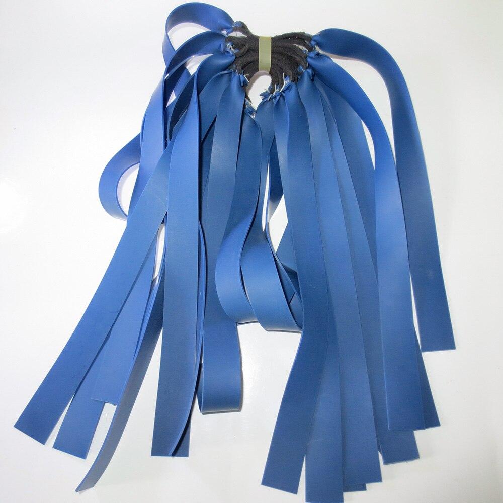 10pieces 1mm 블루 라텍스 교체 플랫 고무 밴드 튜브 - 수렵