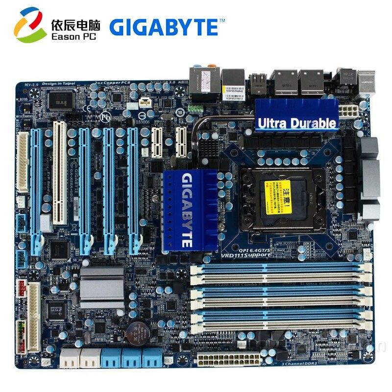 GIGABYTE GA-X58A-UD3R Desktop Motherboard LGA1366  I7 DDR3  24G ATX