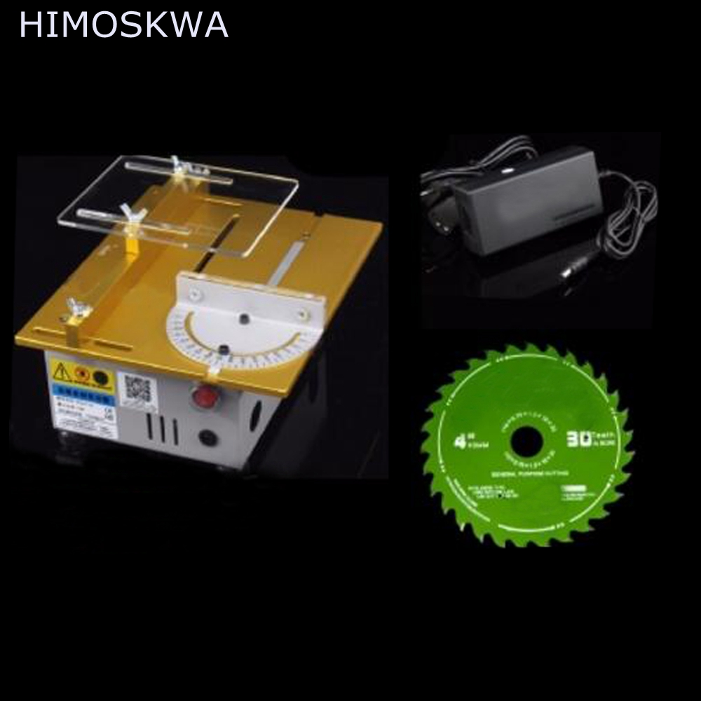 HIMOSKWA Mini table saw/12V-24V  DIY wood Cutting machine with adding a soft shaft interface fitsain mini table saw for motor shaft 8mm saw blade 16mm 20mm belt spindle cutting saws machine pulley bracket bearing chainsaw