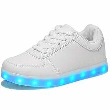 Единственным тапки моделирование светящиеся случайные мальчиков девочек светодиодные цвета обувь свет