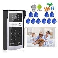 7 Monitor Screen RFID Code Wireless Wifi Video Door Phone Doorbell Intercom For Phone Remote Monitor