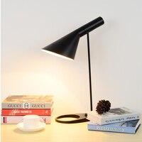 Современный Утюг настольная лампа черный, белый цвет для варианта Европа AJ настольная лампа Cafe проход зал Читать Исследование лампа светод