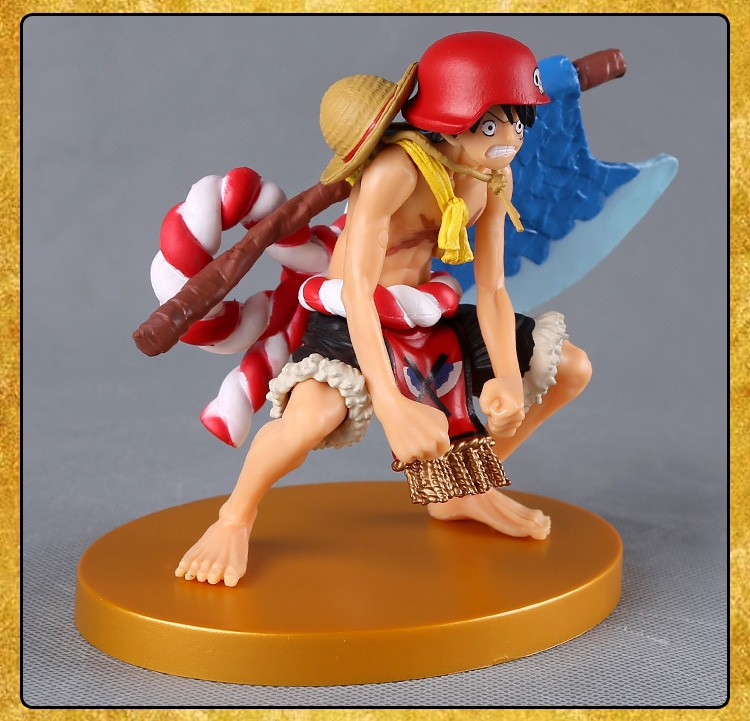 One Piece Luffy Action Figure One Piece Film Gold Ver Monkey D Luffy Doll Pvc Acgn Figure Garage Kit Toy Brinquedos Anime 12cm For Sale Toys & Hobbies