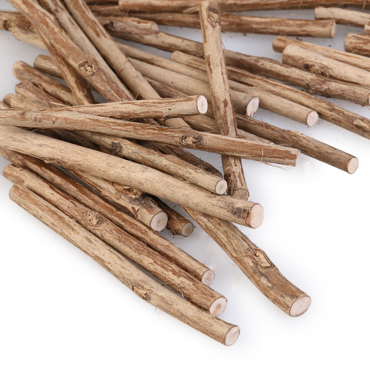 100pcs 10cm long 0 5 0 8cm in diameter wood log sticks for Decoration sticks