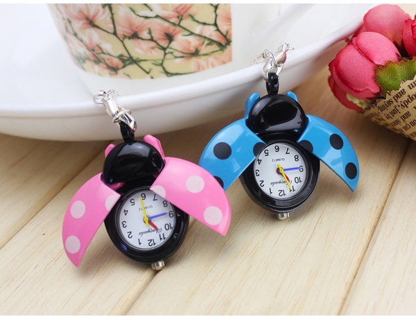 1pcs Different Color Ladybug Necklace Quartz pocket Watch old antique bronze doctor who theme quartz pendant pocket watch with chain necklace free shipping