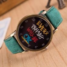 Fashion Montres Retro Imitation denim fabric watches Men Women Casual Graffiti Quartz Watch Sports Watches relogio feminino