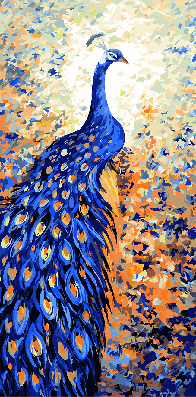 Beautiful Peacock Diy Digital Oil Painting By Numbers Paint Drawing Coloring By Number Canvas Hand Painted Picture Wall Decor Aliexpress