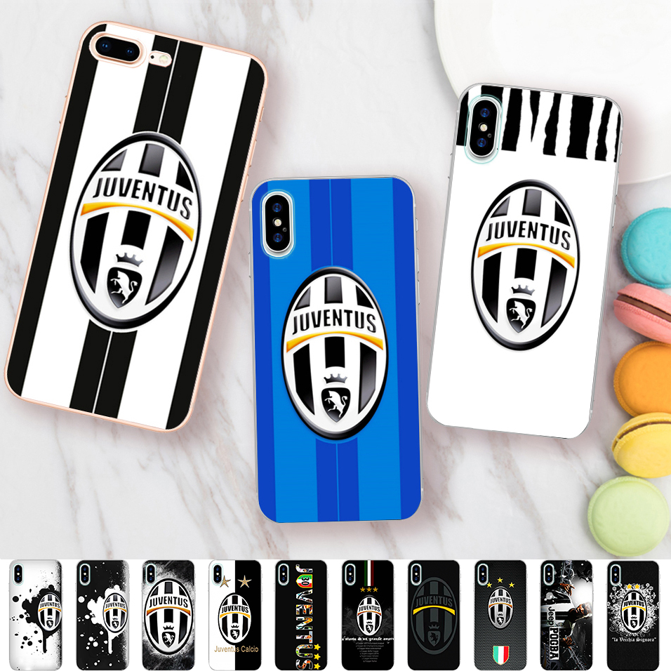 Minason Football FC Cases for iPhone 6s Case Juventus Soccer Soft Silicone Case for iPhone X 7 5 5S SE 6 8 plus Cover Coque
