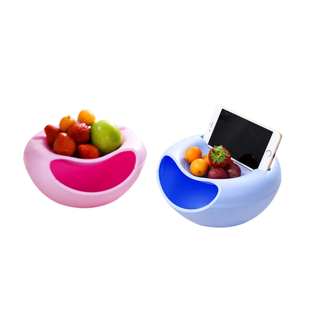 Snacks Plate Storage Boxes House Decor Double Layer Dry Fruit Plates  Containers Household Plate Dish Snacks