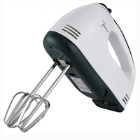 7 Speeds Electric Egg Beater Hand Held Roasting Appliances Egg Mixer Kitchen Baking Tools EU Plug White Silver