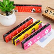 Multicolour wooden orff instruments child music harmonica toy parent-child