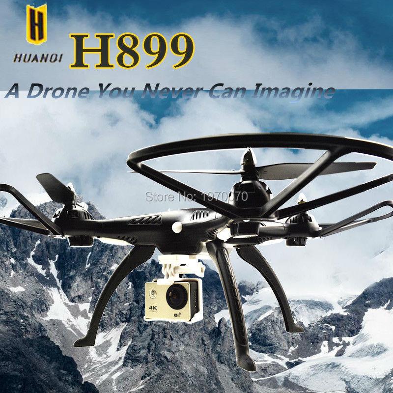 HUANQI H899B hélicoptère de Drone quadrirotor RC à pression atmosphérique avec support de caméra Wifi 4 k 1080 p pour caméra d'action Xiaoyi Sjcam Gopro