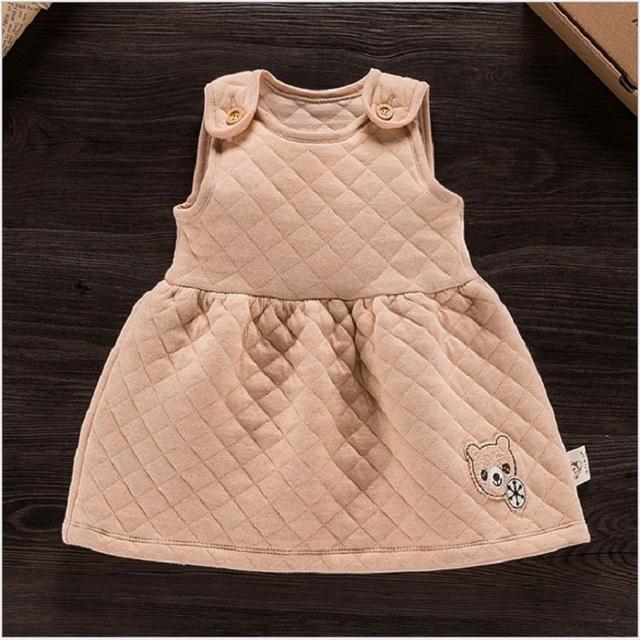 De alta calidad recién nacido del bebé 100% algodón orgánico dress nueva primavera otoño kids baby girl fiesta de cumpleaños lindo vestidos de ropa