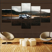 HD Print Canvas Frame Painting Wall Art 5 Panel Jeep Cross Country Car Poster Landscape Modular Picture For Living Room Decor