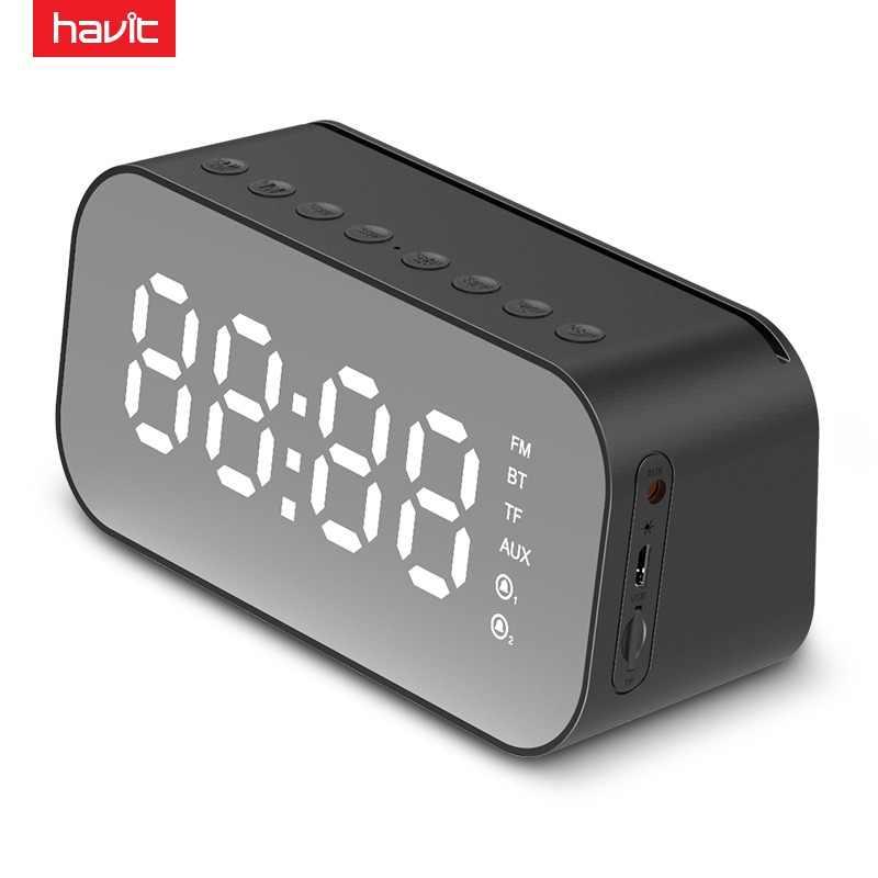 Alarma Con Reproductor Led Usb Tf Temperatura Fm Música Havit M3 Reloj Portátil Aux Bluetooth Altavoz Inalámbrico Apoyo Radio De OPkXTiwlZu