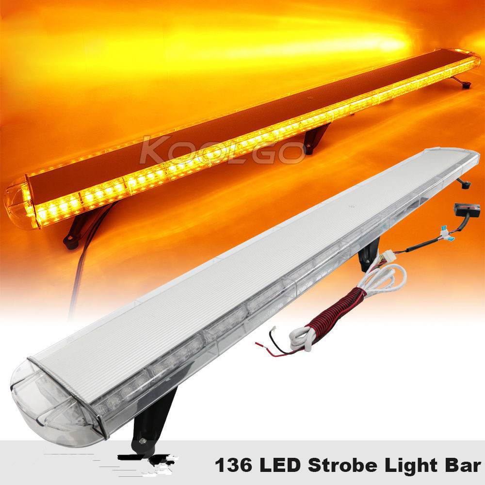CYAN SOIL BAY 1.8M 136 LED Light Bar Beacon Warning Roof Strobe Emergency Light Bar Amber 72