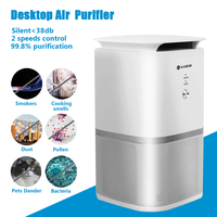 Augienb Air Purifier With True HEPA Active Carbon Filter No Ozone Odour PM Eliminator Air Purification Health Air For Home