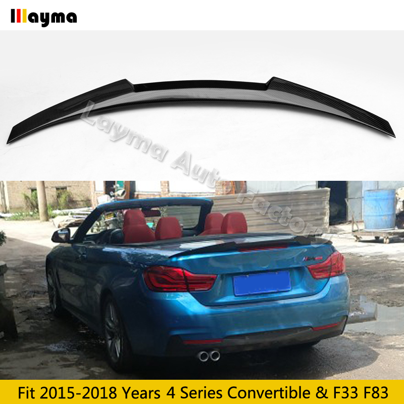 M4 style Carbon Fiber rear trunk spoiler For BMW 4 Series Convertible F33 F83 420i 428i