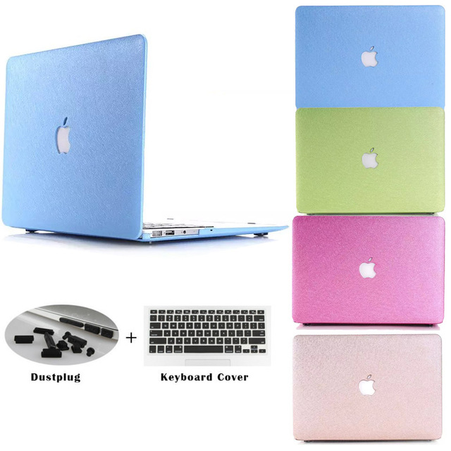 new concept cd1c7 a1147 US $8.9 |Luxury Silk Touch soft Cover Case Shell Sleeve Skin For Apple  Laptop Macbook Air 11 13 12 pro 13.3 15.4 Retina with Cut logo-in Laptop  Bags & ...