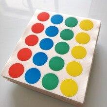 2000 枚直径 20 ミリメートルカラフルなラウンド紙ステッカー、混合赤青緑黄、商品番号 OF08