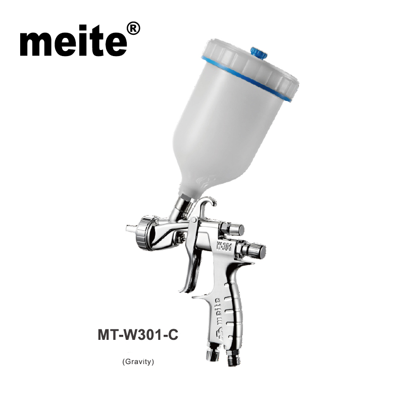 Meite spray gun professional for car painting MT-W301-C in nozzle 1.5/1.7/1.8/2.0/2.5mm gravity feed type air sprayer Sep.3rd meite mt w101 101s mid sized spray gun h v l p tool for car paint in high efficiency and 600cc cup suction type in 1 0mm nozzle page 5
