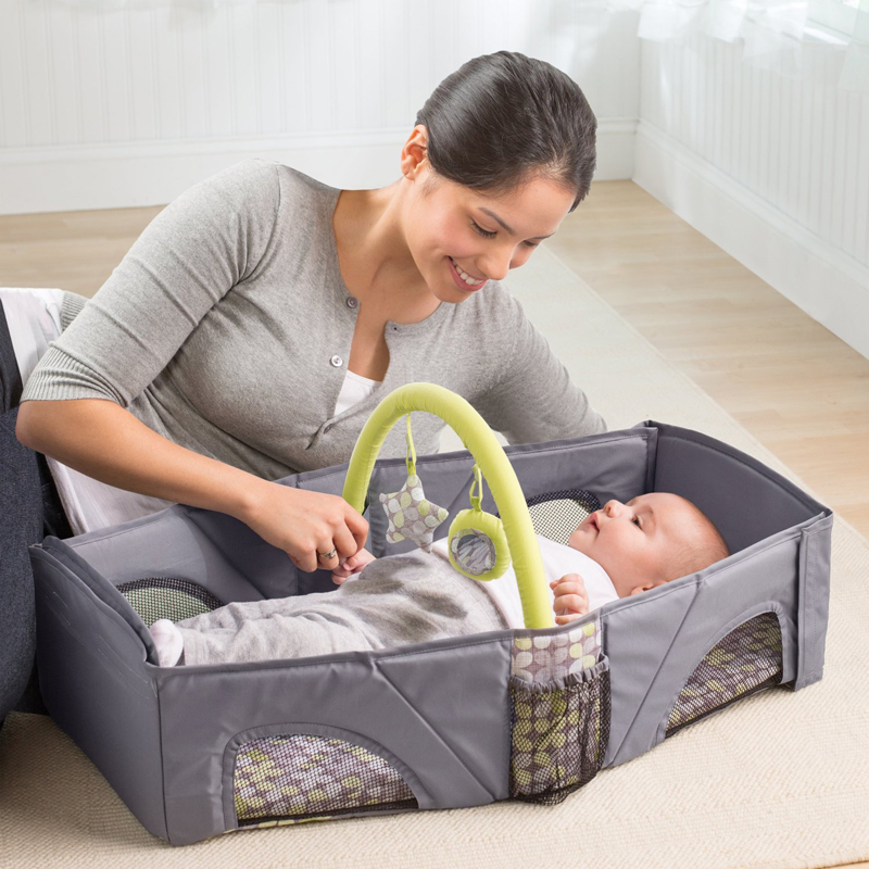 baby safety isolation bed portable folding baby crib mummy bag newborn cotton sleep travel bed nappy bag cradles bed baby crib