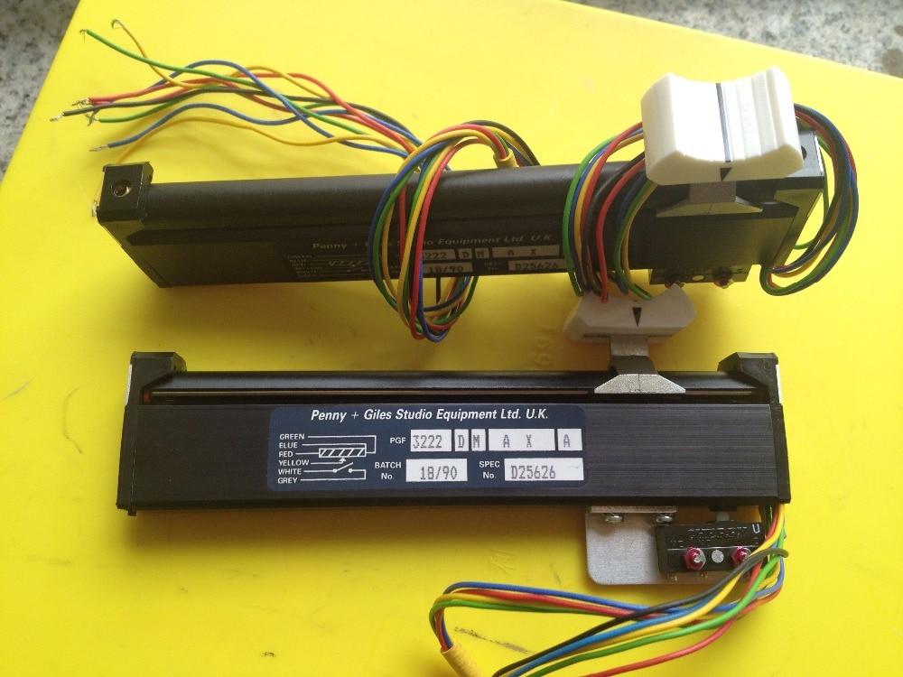PG pus Penny + Giles Studio Equipment Ltd.10 kx2 U.K 12.8 straight slide pusher potentiometer Switch 3222DMAXA    3222 D M A X A archer j not a penny more not a penny less