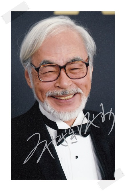 Miyazaki Hayao autographed signed photo picture 4*6 inches collection freeshipping 02.2017
