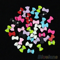 Alta Qualidade 45 pcs Color Mix Bow Tie Acrílico 3D Rhinestone Nail Art Gel UV Dica 7GXB AS9