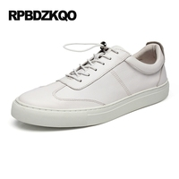 2017 Lightweight Flats Comfort White Rubber Lace Up Black Casual British Shoes Style High Quality Skate
