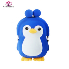 chibelle The new 2017 zero wallet cute cartoon penguin soft silicone coin purse girl tiny bag children gifts