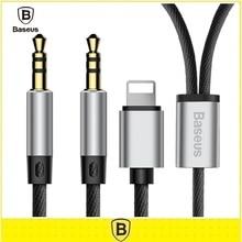 Baseus Aux Кабель Двойной Разъем 3.5 мм Между мужчинами Адаптер для iPhone 7 6 S Наушники Наушники Молния Aux Аудио кабель-Удлинитель кабель