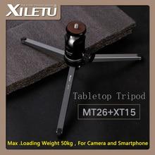 Wholesale prices XILETU MT26+XT15 Bearing Desktop Bracket Mini Tabletop Tripod and Ball Head High For DSLR Camera Mirrorless Camera Smartphone