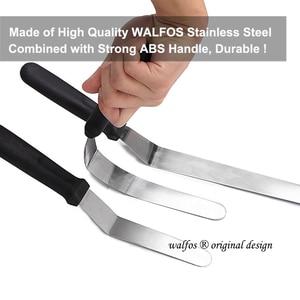 Image 3 - WALFOS espátula de acero inoxidable para mantequilla, cuchillo crema pastel para pastel, esparcidor de glaseado y escarchado pastel de Fondant, decoración de pasteles